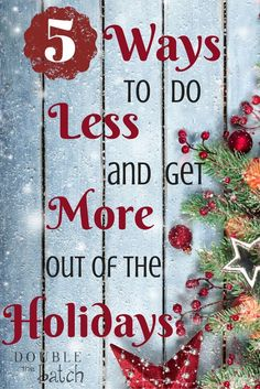 Save this Christmas Season - A must read if seeing the Holidays coming has you stressed!