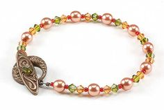Jewelry Making Idea: Fall Foliage Bracelet (eebeads.com)