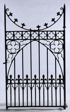 Gothic Revival Wrought Iron Gate