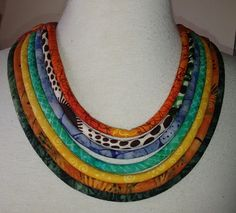 African Batik  and Ethnic Print Multi Cord  by paintedthreads2