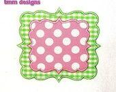 Machine Embroidery Design Joy Applique Frame