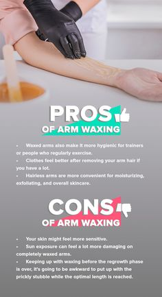 Are you wondering if it's a good idea to wax your arms? Here we'll tell you the pros and cons about arm waxing. Remove Arm Hair, Body Waxing, Sugaring, Sleeveless Tops, Feel Better, Your Skin, Moisturizer, Arms, Told You So