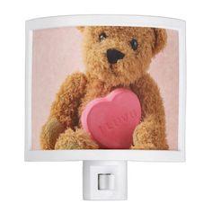 Teddy bear i luv u night light