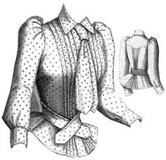ageless patterns #1073, 1891 Percale Shirt Waist. A flattering blouse, well worth