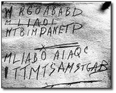 CREEPY Unsolved Crime Was the code the result of a disturbed mind, or chronic boredom, perhaps? Turns out, no. The most recent attempt to solve the case found the letters aren't random, just some mysterious cipher nobody was familiar with. Can you solve it? If so, you're about to be famous, considering people have been trying for more than 60 years. GOOD LUCK!