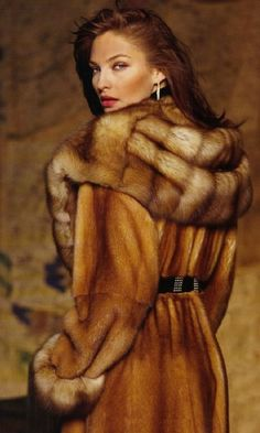 Mink & sable fur coat. TG