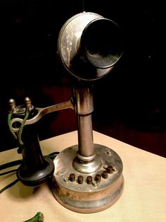 DeVeau Telephone Company Early 6 Button Desk Set. Pat. 1899
