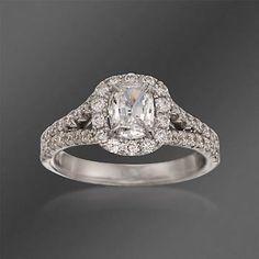 Henri Daussi 1.49 ct. t.w. Diamond Engagement Ring in 18kt White Gold