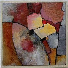 Contemporary Abstract Geological Painting MOSAIC 2 Carol Nelson Fine Art, painting by artist Carol Nelson