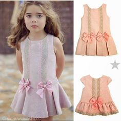 Diy Crafts - VK is the largest European social network with more than 100 million active users. Fashion Kids, Little Girl Fashion, Frock Patterns, Baby Dress Patterns, Little Girl Dresses, Girls Dresses, Toddler Dress, Cute Dresses, Kids Outfits
