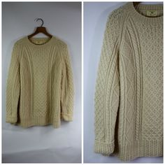 Cable Knit Sweater / 1980's Sweater / by WindingRoadVintage