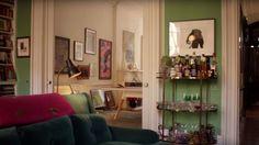 sarah-jessica-parker-home-lounge Bar Cart!!!!!!!!