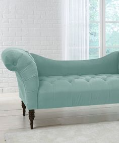 Look what I found on #zulily! Caribbean Velvet Tufted Chaise Lounge #zulilyfinds