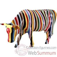 Cow Parade -New York 2000, Artiste Cary Smith -Striped dans Medium