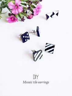 Make your style | Mosaic tile patterned earrings