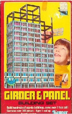 Think we had a set similar to these that we got second hand from a relative. It was a lot of fun. Girder & Panel Building Set by Kenner. This building toy originally came out between 1957 to Then it was re-released in 1974 in a Sears Tower version. 1960s Toys, Retro Toys, 1970s, Retro 2, Vintage Games, Vintage Toys, Cartoon Tv Shows, My Childhood Memories, Toy Soldiers