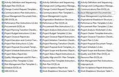 PROJECT MANAGEMENT TEMPLATES MS Word & Excel (63 files)