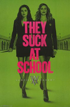 Rose and Lissa suck at school...literally! A sweet Vampire Academy poster from the fun film based on the hit teen novel. Fully licensed. Ships fast. 22x34 inches. Need Poster Mounts..?