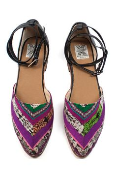 I'm SO ready for color right now. It feels like colorful textiles are popping up everywhere so why not your feet? #shoes