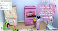 Slumber Party Mod at Brittpinkiesims • Sims 4 Updates