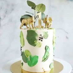 Sesame Street Birthday Cakes, Jungle Birthday Cakes, Jungle Theme Cakes, Dinosaur Birthday Cakes, Safari Cakes, Themed Birthday Cakes, First Birthday Cakes, Dinosaur Cakes For Boys, Jungle Safari Cake