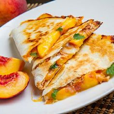 BBQ Chicken and Peach Quesadillas