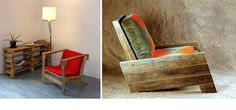 Small crate decor chairs ideas for 2019 Wooden Crates Nightstand, Wooden Crate Shelves, Old Wooden Crates, Pallet Crates, Wine Crate Coffee Table, Crate Table, Dog Crate Furniture, Wood Pallet Furniture, Pallet Wood