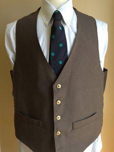 Custom Set of Vintage Groomsmen's Vests  by theivyleaguestore