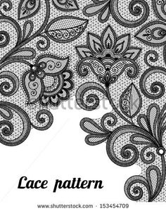 vintage lace drawings | Vintage lace background for invitation or greeting card - stock vector