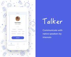 """Empfohlenes @Behance-Projekt: """"Talker"""" https://www.behance.net/gallery/50824485/Talker"""