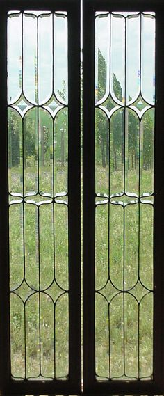 """French Antique glass door panels 