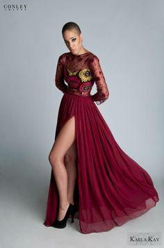 Kaela Kay Fall/Winter 2013 African Print Evening Gown