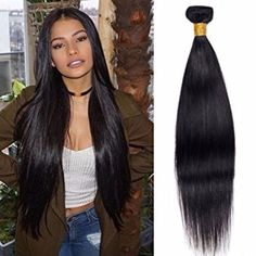 Virgin Malaysian Remy Hair Weave Straight 10 Inch To 26 Tangle And Shedding Free Natural Black 100g