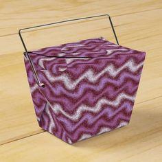 Rippled Purple Favor Box