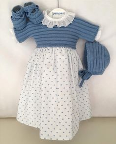 Vestido bolitas Sewing For Kids, Girls Dresses, Dresses With Sleeves, Knitting, Long Sleeve, Baby, Fashion, Knitted Baby Clothes, Baby Dresses