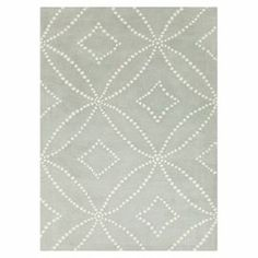 Anchor your living room seating group or define space in the den with this artfully hand-tufted rug, showcasing a geometric motif for eye-catching appeal.   Product: RugConstruction Material: 100% New Zealand woolColor: Pigeon gray and antique whiteFeatures:  Hand-tuftedMade in India Note: Please be aware that actual colors may vary from those shown on your screen. Accent rugs may also not show the entire pattern that the corresponding area rugs have.Cleaning and Care: Blot stains