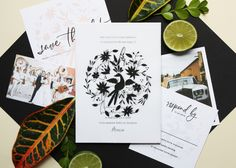 Items similar to Black and White Otomi Suite on Etsy Mexican Wedding Invitations, Wedding Stationery Inspiration, Card Envelopes, Response Cards, Design Process, Whimsical, Custom Design, Black And White, Unique Jewelry