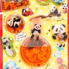 kawaii colorful animal panda bear water capsule stickers $4.28 http://thingsfromjapan.net/kawaii-colorful-animal-panda-bear-water-capsule-stickers/ #kawaii sticker #panda #cute Japanese sticker