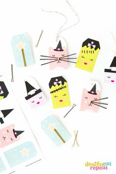 Attach bobby pins to these adorable Halloween tags and help solve the mystery of where the millions of bobby pins across the world disappear to! Just download the FREE printable from Design Eat Repeat and print on Avery Printable Tags (22802). Could anything be cuter?