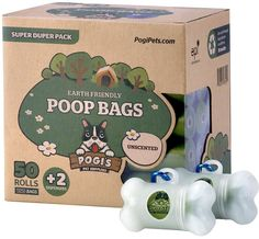 Pogi's Poop Bags - 50 Unscented Rolls (750 Bags)  2 Dispensers - Large, Earth-Friendly, Leak-Proof Pet Waste Bags * You can find more details by visiting the image link.