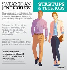 What to Wear to a Startup or Tech Job Interview - NerdWallet Business Casual Men, Business Outfits, Business Formal, Business Attire, Business Fashion, Interview Outfit Men, Interview Shoes, Skype Interview, Job Interviews