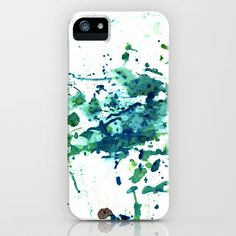 fish ink iPhone Case by agnes Trachet - $35.00