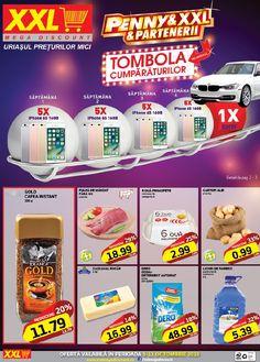 Catalog XXL Mega Discount 05 - 11 Octombrie 2016! Oferte si recomandari: Gold cafea instant 200 g, 11,79 lei; Dero Ozon+ Detergent automat 10 g 48,99 lei