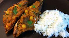 Indian Stuffed Sweet Potatoes