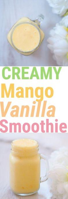 Mango Vanilla Smoothie! Thick, creamy and delicious ❤️ #smoothie #mango #vanilla #drink #glutenfree #vegan #breakfast