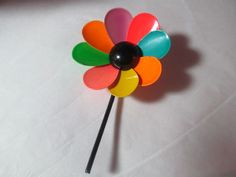 Flower Pin Funky 1960s Bright Colored Daisy