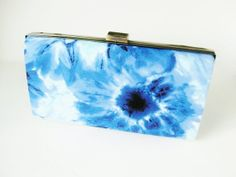 #bohochic, #bohofashion, #tiedyefashion tie dye clutch blue tie dye clutch boho chic by VincentVdesigns, $54.00
