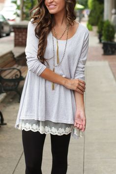 This Is It Grey Tunic