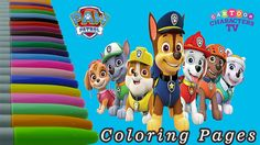 Paw Patrol Coloring Pages Painting / Learning Colors Education for Kids ...