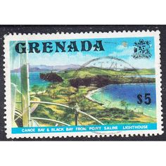 1975 Local Motives-Canoe Bay and Black Bay from Point Saline Lighthouse $5 Used Listing in the Grenada,Grenada (up to 1974),Commonwealth & British Colonial,Stamps Category on eBid United Kingdom | 144735743
